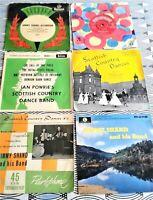 6 X Jimmy Shand Bobby Johnstone Ian Powrie Scottish Country Dance EPs + 45 Vinyl