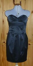 MISS SELFRIDGE Noir Bustier Court Parti Prom robe de cocktail 10 Bnwt