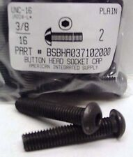3/8-16x2 Button Head Hex Socket Cap Screws Alloy Steel Black (5)