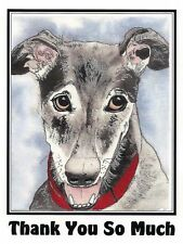Sue Monahan Dog Art Thank You So Much Cards  - Set of 4