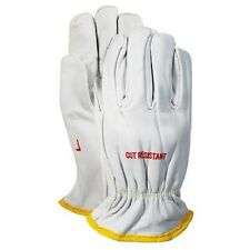 Magid Cutmaster Goatskin Leather Drivers Gloves,Kevlar Lined, Cut Level 3, Large