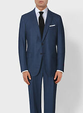 NEW! Blue Isaia 2 Button Slim-Fit Suit Lightweight Wool Gregory' 44 R/54IT $3870