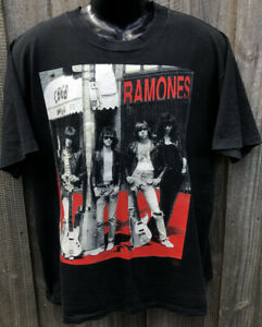1993 Vintage Ramones T-Shirt Mens - Size Large - Top Heavy Tag Made In Australia