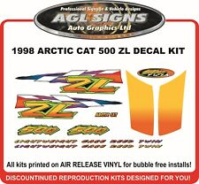 1998 ARCTIC CAT ZL 500 DECAL KIT    also 600 440