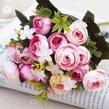 13 Heads Artificial Silk Camellia Flowers Hydrangea Party Wedding Decor Home
