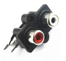 CONNETTORE 2 RCA STEREO DA PANNELLO verticale presa femmina audio PCB cavo