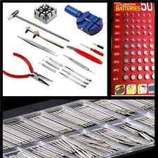 400 Watchmaker Watch Repair Tool Kit  Opener Remover Spring Pin Bar 50 batteries