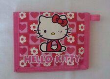HELLO KITTY Pink Nylon Velcro Sanrio 1976, 2005 Wallet