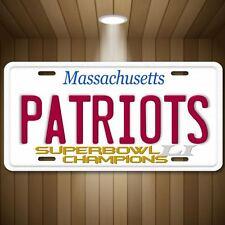 New England PATRIOTS Football NFL Superbowl 51 Champions Vanity License Plate