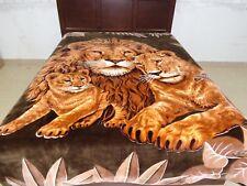 Original Solaron Blanket throw thick Mink Plush baby Lion family brown king