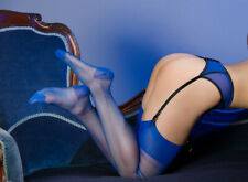 GIO RHT Stockings / Nylons - ELECTRIC BLUE - imperfects NYLONZ