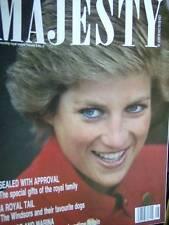 Majesty Magazine V9 #6 Diana Cover, Royal Nurseries, Royal Portraits, Royal Dogs