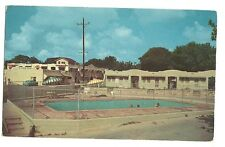 Grande Courts San Antonio Texas Pool Umbrellas Old Car Post Card Hotel Motel