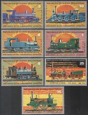 Equatorial Guinea 1978 TRAINS/Steam Engines/Locomotives/Rail/Transport 7v n16168