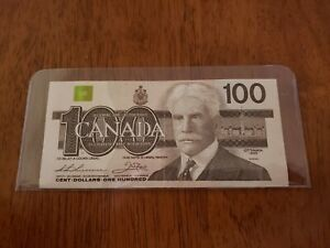 BC-60i-a 1988 $100 ONE HUNDRED DOLLARS BANK OF CANADA BANKNOTE VF