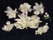 Vintage Millinery Flower Ivory White Collection for Hat Wedding or Headband H640