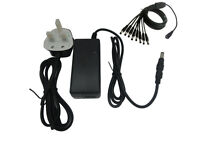 12V 5A/4a/3A TFT LCD Monitor Charger Power Supply LEAD + 8 WAY SPLITTER CABLE