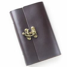 Ancicraft Leather Journal Notebook Refillable with Lock 6 Ring Binder A6 Lined