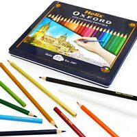 Helix Oxford Colouring Pencils in Metal Gift Tin - Assorted Colours - Pack of 24