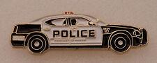 POLICE CAR cruiser Lapel Pin BLACK & WHITE Protect/Serve/911