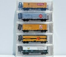 Meat Packers #1 -5 Pack Micro Trains/NSC N Scale 40' Steel Side Ice Reefers. New