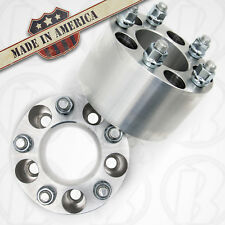 "2 MADE IN USA Ford Mustang 5 Lug Wheel Spacers 5x4.50  2.5"" w/studs & lug nuts"