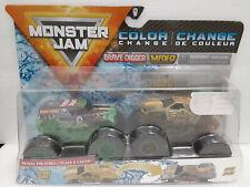 Grave Digger & Max-D (2020) Color Change Spin Master Monster Jam 1:64 Trucks