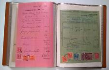Lotto di 60 ricevute con centinaia di marche da bollo -Italia Regno e Repubblica