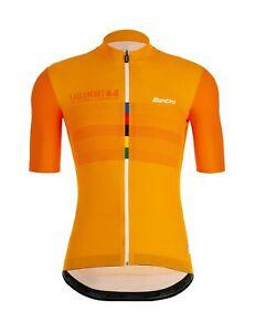 Santini Tono Short Sleeve Cycling Jersey Fluo Orange