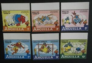 "ANGUILLA WALT DISNEY PRODUCTIONS VERY FINE MNH STAMPS WORLD CUP ""ESPANA 82"" !!!"