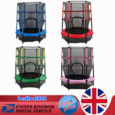 55 inch Junior Trampoline Set 4.5FT With Safety Net Enclosure Kids Outdoor Toy