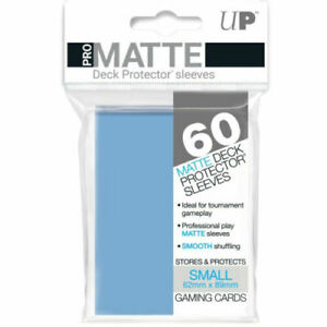 60 Ultra Pro Light Blue Pro-Matte Deck Protectors. Trading Card Sleeves.