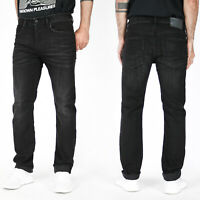 Diesel Herren Regular Slim Fit Stretch Jeans - Vintage Schwarz - Buster R9B60