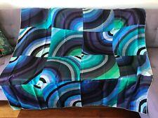 "$1,100 HERMES Carre Geant Blue Green Purple100% silk  Scarf 55""X55"""