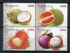 Indonesia 2017 MNH Fruits Manggis 4v Block Nature Foods Gastronomy Stamps