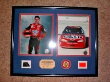 "Jeff Gordon ""4 Time Champ"" 2003 PIECE OF TIRE & BUMPER 10/75 Highland Mint 16x22"