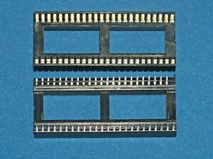 Porte-Ic / Ic-Sockel, 48-polig (RM 1,778mm), Doppelfederkontakt, 2 Pièce