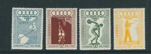 PERU 1948 WEMBLEY OLYMPICS (Scott C78-C81) VF MLH