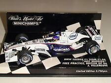 """1:43 J. Villeneuve ~ BMW SAUBER ~ 'Appena Sposato"""" 2,736pcs - Minichamps 400060117"""