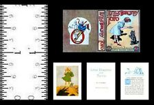 1:12 Scale Miniature Book Little Dorothy And Toto Illustrated Oz Baum