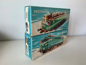 MARKLIN HO 3012 SEH 800 et 3059 BB 9200 CAPITOLE SNCF  lot de 2 boites vides