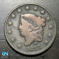 1827 Coronet Head Large Cent   --  MAKE US AN OFFER!  #B6324