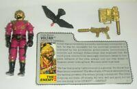 1988 GI Joe Cobra Voltar Destro's General v1 Figure w/ File Card *Near Complete