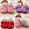 Fashion Cute Newborn Girl Warm Toddler Bowknot Hot Soft Sole Boots Baby Shoes