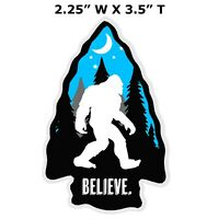 BIGFOOT I BELIEVE - Car Truck Window Bumper Graphic Sticker Decal Souvenir