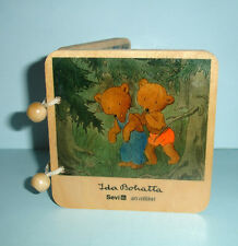 Ida Bohatta Vintage Children Book with 8 Bear Illustrations on Birch Plywood