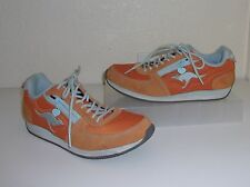 KangaRoos Gray Suede & Leather w/ Orange & Zip Zipper Pocket Sneaker Size 7 Shoe