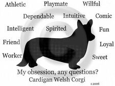Cardigan Welsh Corgi Dog Obsession? Tshirt Overstock Sale Grey Xlarge one only
