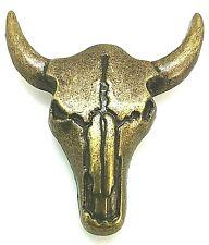 ZIERNIETE CONCHO CONCHA  gold golden Büffel  Stier Western Biker zum Schrauben