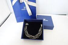 Genuine Swarovski STARDUST BRAIDED grey bracelet £89 5239033 prom birthday gift